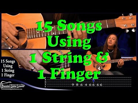 15 1 String Guitar Songs – Beginners Guitar Songs – Easy Songs to Play on Guitar