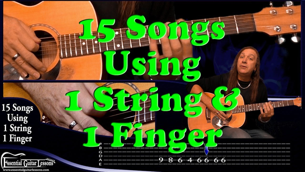 15 1 string guitar songs beginners guitar songs easy songs to play on guitar youtube. Black Bedroom Furniture Sets. Home Design Ideas