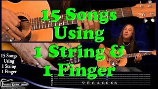 15 1 String Guitar Songs – Beginners Guitar Songs – Easy...