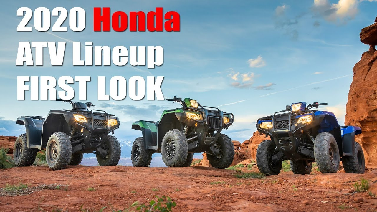 2020 Honda Atv Lineup First Look Updates For Rancher And Foreman Models