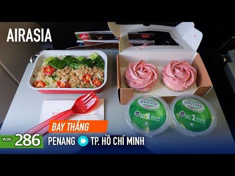 [M9] #286: Bay thẳng từ Penang về TP. Hồ Chí Minh với AirAsia, đồ ăn ngon, đẹp | Yêu Máy Bay