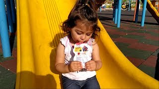 Ayşe Ebrar Parkta Hüpper Yoğurt Yedi Süper Oldu Kocaman Kaydıraklardan Kaydı. For Kids Video