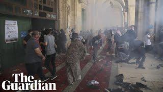 Jerusalem: hundreds injured as violence at al-Aqsa mosque sparks heightened tensions