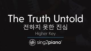 The Truth Untold (Higher Key - Piano Karaoke) BTS & Steve Aoki