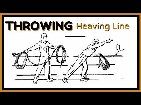 Sending heaving line ashore
