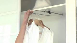 Вешалка выдвижная для одежды в шкаф Выдвижная штанга(, 2015-03-23T08:55:08.000Z)