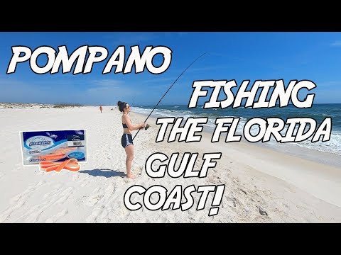 Surf Fishing - Pompano Fishing In The Florida Panhandle! Pompano & Whiting