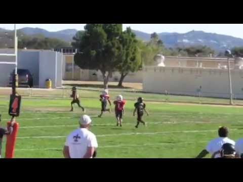 Carson Heath 40yd TD (#4) reception vs Santa Barbara (alternate view)