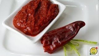 Red Chilli Paste  - By Vahchef @ Vahrehvah.com