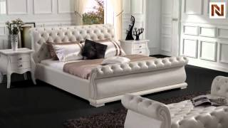 Modern White Tufted Leatherette Bed  Vgsbn-5818 From Vig Furniture
