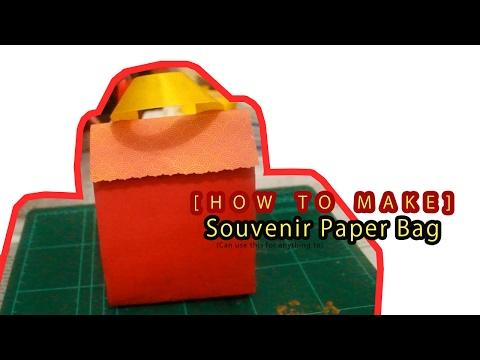 [HOW TO MAKE] Paper Souvenir Bag