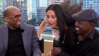 Olivia Munn Crashes Tim Story & Will Packer Ride Along 2 Interview