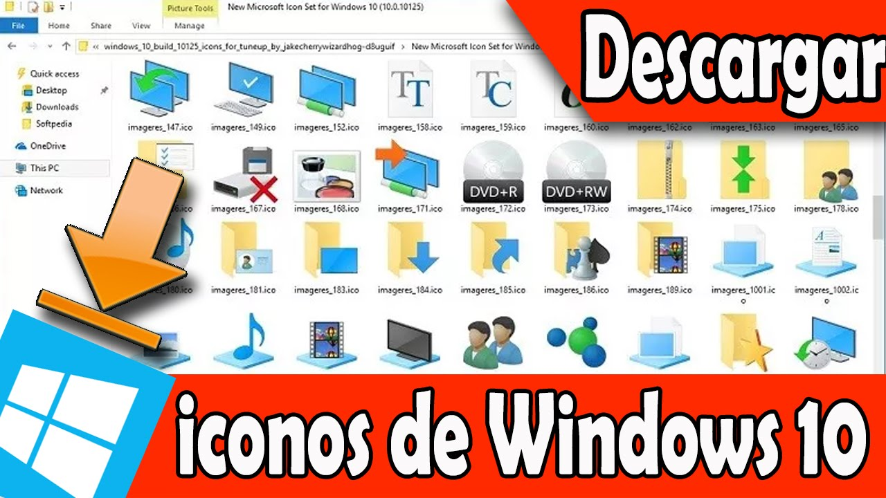 Descarga Los Iconos De Windows 10 ( Build 10125) Para
