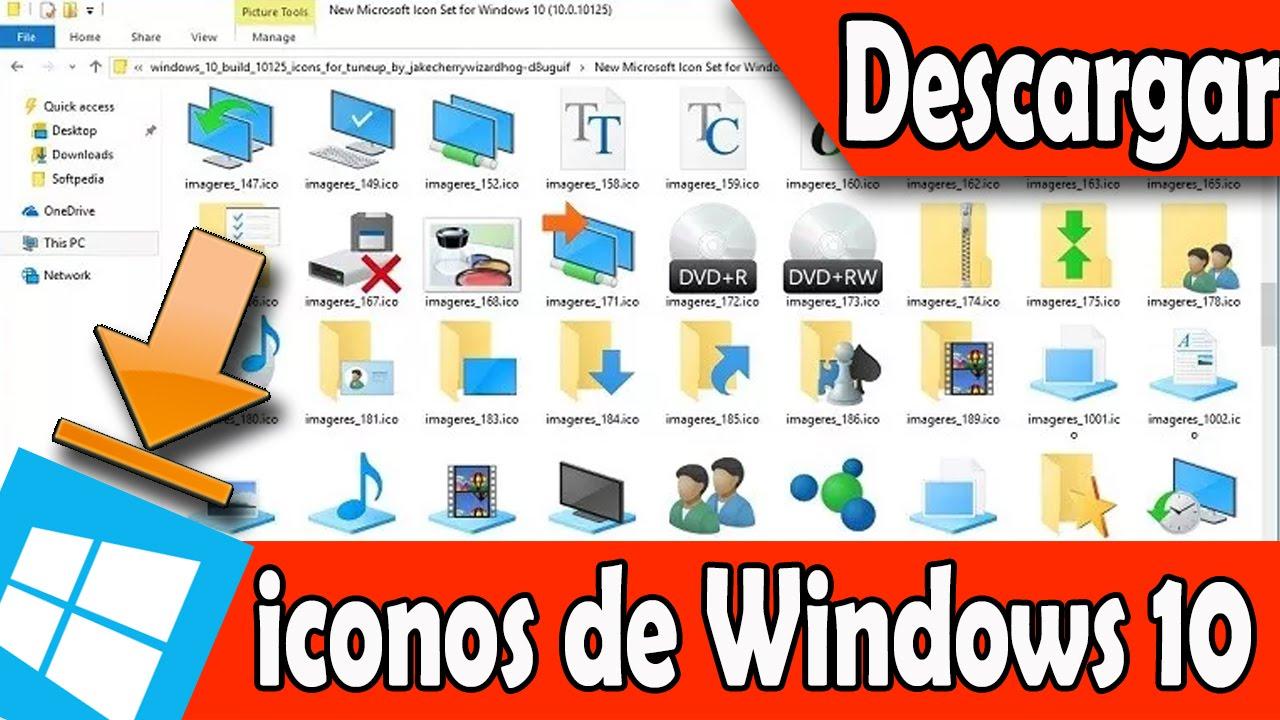 Descarga los iconos de windows 10 build 10125 para - Iconos para escritorio windows ...