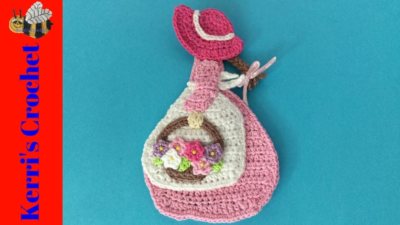 Girl With A Basket Of Flowers Crochet Tutorial Youtube