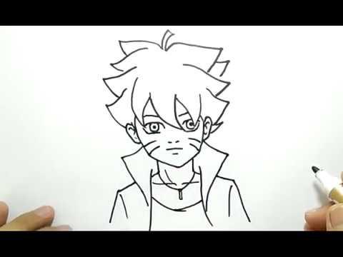 Cara Menggambar Boruto Dengan Mudah How To Draw Boruto Very Easy