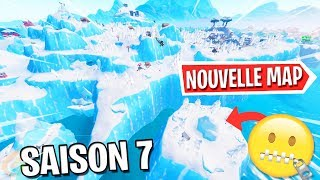 FORTNITE SAISON 7 - THE NEW MAP A SECRETS: An Island and A Secret Base?!