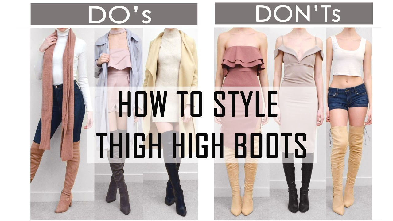 2be92c2cf64 HOW TO STYLE THIGH HIGH   OVER THE KNEE BOOTS    Do s   Don ts    TRY-ON  and talk through - YouTube