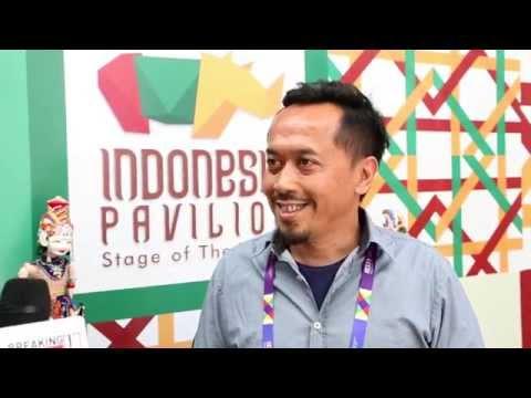 Indonesia pavilion director Budiman Muhammad