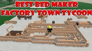 Roblox - Factory Town Tycoon: THE BEST BED MACHINE (900 $ alle paar Minuten)