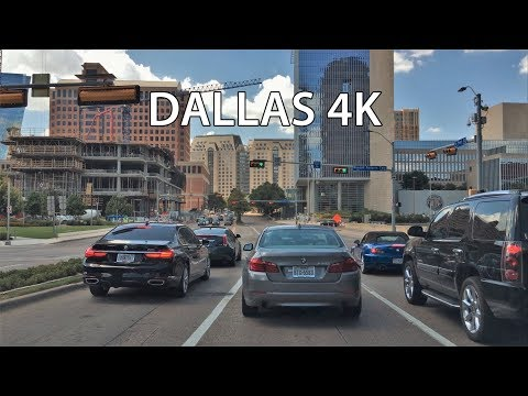 Driving Downtown - Dallas Texas USA