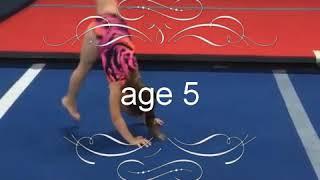 Zoey Robertson gymnastics evolution (age 2/7)