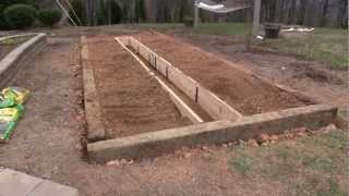 Raised Bed Garden - In-ground Hybrid With Railroad Ties