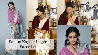 How To Wear A Saree in Different Style | Sonam Kapoor Saree | Different Way of draping a Saree