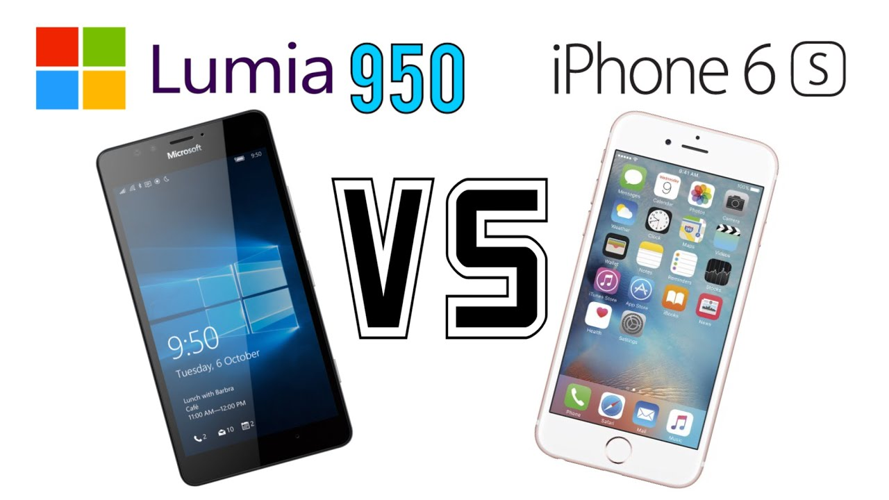 Lumia 950 vs iphone 6s