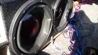 Peak to Peak subwoofer excursion
