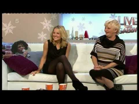 Sarah Hadland - black tights