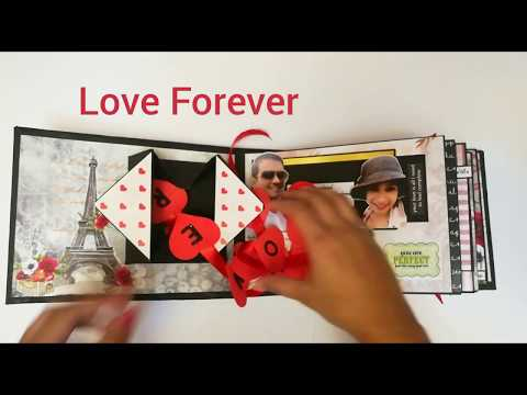 Handmade Love and Birthday Scrapbook Gift for Boyfriend | Male Scrapbook