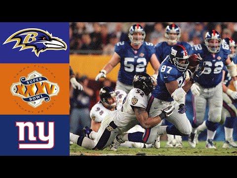 Ravens Vs Giants Super Bowl XXXV (HD)
