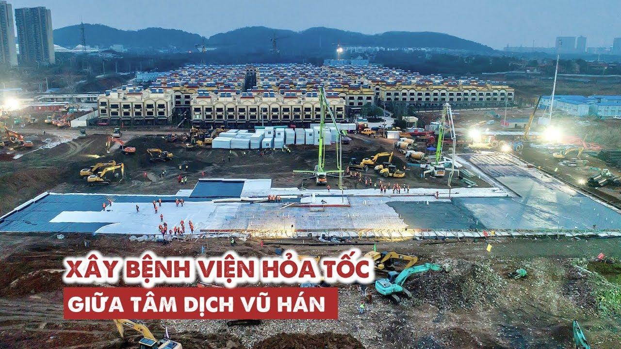 Trung Quốc xây bệnh viện trong 9 ngày để chống vi rút corona