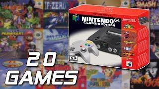 20 SPIELE für das N64 Classic Mini (feat. Raketenjansel)