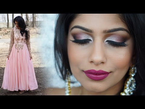 Spring Indian Wedding Makeup Tutorial & Outfit!
