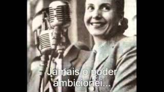Não chores por mim Argentina  Evita Perón