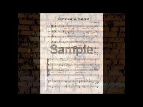 RESPONSORIAL PSALM TUNE 92 MUSIC SCORE