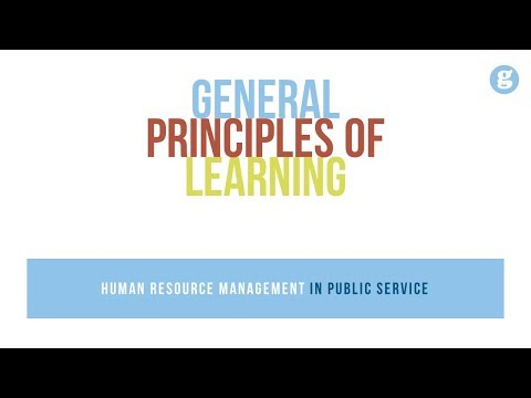 General Principles Of Learning