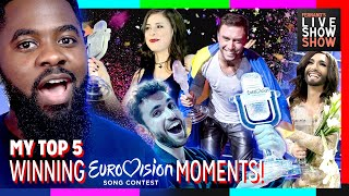 TOP 5 WINNING EUROVISION MOMENTS!