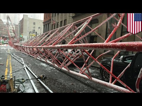 New York crane collapse: Man crushed to death by 500ft crawler crane in Tribeca - TomoNews