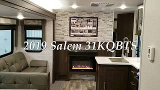 2019 .5 Forest River Salem 31KQBTS Travel Trailer at Couch's RV Nation a RV Wholesaler - RV Reviews