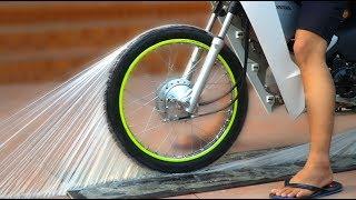 NTN - Thử Chạy Xe Trên Keo Siêu Dính (Ride motorcycle on super Glue)