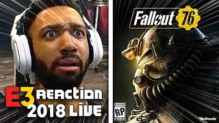 FALL OUT 76 LIVE REACTION! - BETHESDA [E3 2018]