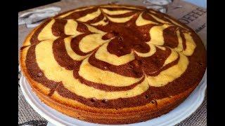 Манник Зебра на Кефире.Невероятно эффектный пирог.