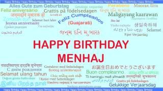 Menhaj   Languages Idiomas - Happy Birthday