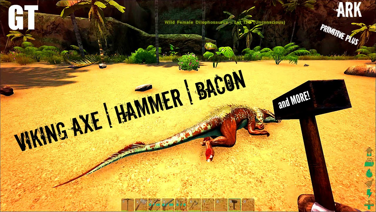 Viking axe torpor hammer and bacon primitive plus part 4 viking axe torpor hammer and bacon primitive plus part 4 ark survival evolved youtube malvernweather Gallery