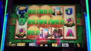**BONUS** Wild Leprechauns at Bellagio - Slot Machine MAX BET!