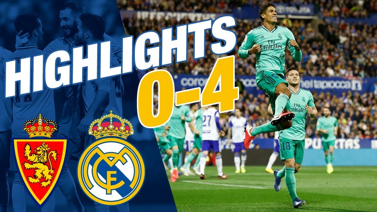 HIGHLIGHTS | Zaragoza 0-4 Real Madrid | ALL GOALS
