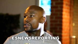 Floyd Mayweather In His Drop Top Rolls Royce in LA To watch IN YOUR CORNER EsNews Boxing